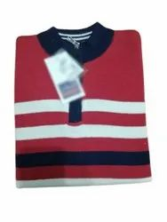 Woolen Mens Red Full Sleeves Sweaters, Size: Xl