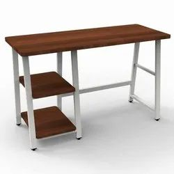 Steel And Wood Workstation Computer Table