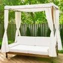 Outdoor Wooden Daybed with Cushions