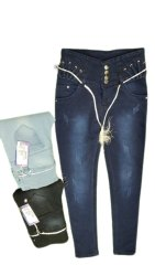 Navy Blue Ladies Regular Fit Denim Jeans