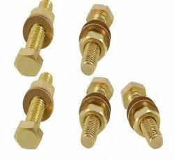 Hexagonal Brass Nut Bolt Washer, For Industrial
