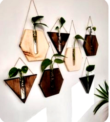Wooden Wall Decorative Planter Series, Thickness: 6 - 8 mm, Size: 8 Inch