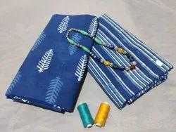 Blue Color Designer Cotton Fabric Suit For Women