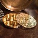 brass spice box
