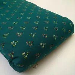 Hand Block Green Cotton Fabric