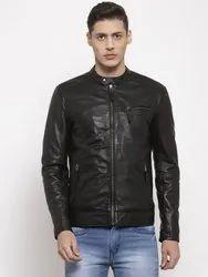 Full Sleeve Casual Jackets Mens Leather Jacket