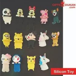 Multicolor Silicone Doll for Phones
