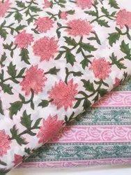 Flower Hand Block Print Cotton Fabric