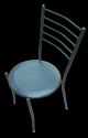 Kylin Seating Black Restaurant Iron Chair, For Cafe, Size: Standard