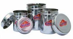 SBM 3 Piece Stainless Steel Storage Container Set