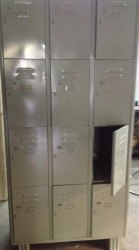 12 Locker MS Cabinet 22/24G MS Painted