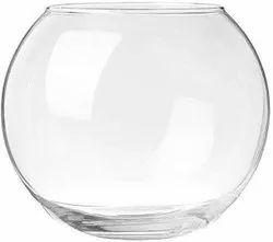 Transparent Round Glass Flower Pot