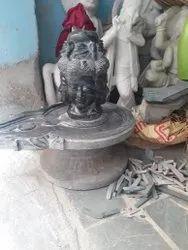 Panchmukhi Shivling Marble Statue