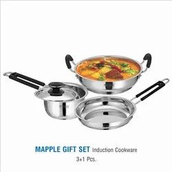 Stainless Steel Cookware Gift 3+1 Set- Mapple