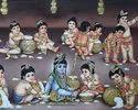 Krishna Baal Roop Tanjore Painting