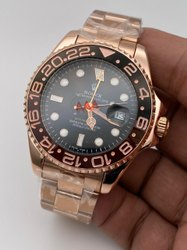 Golden Stainless Steel Rolex Watch For Men