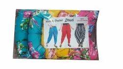 Vismai Garments Polyester Ladies Mobile Pocket Dhoti Pant, Waist Size: 32
