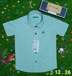 Cotton Shirts & T-Shirts Boys Shirt, Size: 2year To 8years