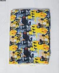 Stunning Firozabad Silk Digital Print Fabric