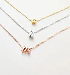 Personalized Tiny Initial Necklace Letter Necklace