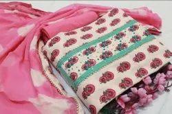 Printed Cotton Fabric Suit For Ladies
