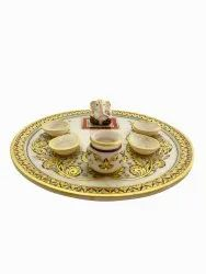 Marble Pooja Thali 12 inches