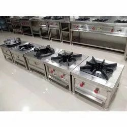 Commercial Gas Stove, For Hotel And Restaurant, Number Of Knob: 2