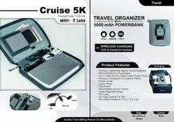 TGZ-558 Travel Organiser With 5000 MAh Powerbank