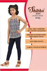 Shibha Plain Kids Nyra Cotton Legging, Size: 26