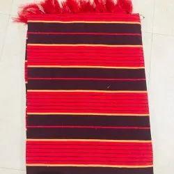 Garg Cotton Red Patti Durries, Size: 3x6 Ft