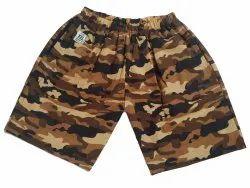 Brown Boy Kids Army Printed Shorts