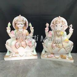 Multicolor Laxmi Ganesh Statue