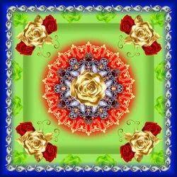 Polyester Taiwan Digital Print Mandap Fabric, Multicolour