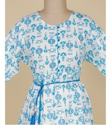 Blue Cotton Long Kurti