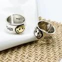 Wide Smiley Face Ring