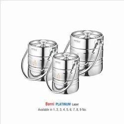 Stainless Steel Milk Pot Platinum Laser Etching