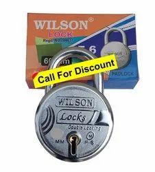 Wilson Combination Round Padlock 50mm D/L, Chrome