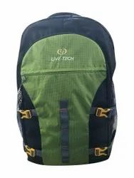 Live Tech Black (Base) Polyester Hiking Backpack, Number Of Compartments: 3 Compartment, Bag Capacity: 15 Litre