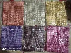 Men Check Khadi Shirt