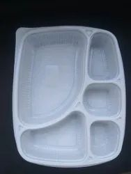5 CP Disposable Plastic Food Meal Tray