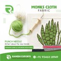 100% Cotton Basket Weave Monks Cloth Fabric