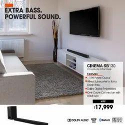 Black Cinema SB 130 2.1 Channel Soundbar with Wired Subwoofer, 110 W