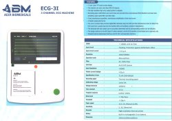 Abm 3 Channel Ecg Machine