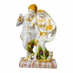 Marble Look Lord Radha-Krishna Statue Idol / Statue