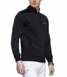 AWG Mens Black Polyester Rider Jacket