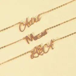 Gold Custom Name Pendant