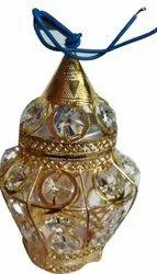 Golden Glass And Copper 9 W Diamond Colus Decorative LED Bulb Light, For Decoration, 230 V