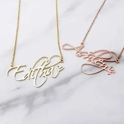 Personalized Script Name Necklace With Heart