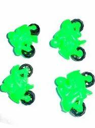 Upto 4 Years Green Plastic Bike Toys, Packaging Type: Packet