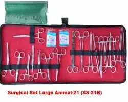 STAILNESS STEEL Surgical Set Large Animal 21 Pieces, For Veterinary Purpose
